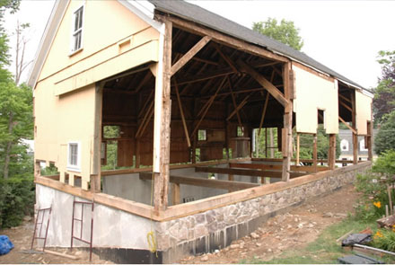 how to build a shed foundation on uneven ground